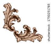 retro baroque decorations... | Shutterstock .eps vector #1750251785