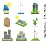 ecology icon set | Shutterstock .eps vector #175025435