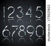 set of shiny diamond digits... | Shutterstock .eps vector #175025822