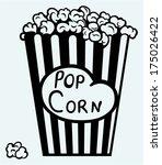 popcorn exploding inside the...   Shutterstock .eps vector #175026422