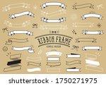 simple line ribbon title frame   Shutterstock .eps vector #1750271975