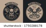 american custom motorcycle... | Shutterstock .eps vector #1750288178