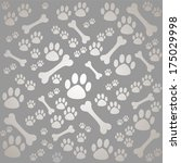 background with dog paw print... | Shutterstock .eps vector #175029998
