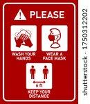 vertical instruction signboard... | Shutterstock .eps vector #1750312202