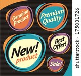 set of retro labels  stickers... | Shutterstock .eps vector #175031726