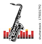 saxophone with equalizer. music ... | Shutterstock .eps vector #175031792