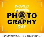 world photography day vector ... | Shutterstock .eps vector #1750319048