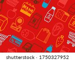 supermarket seamless pattern...   Shutterstock .eps vector #1750327952