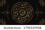 zodiac circle with astrological ...   Shutterstock .eps vector #1750335908