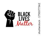 black lives matter protest... | Shutterstock .eps vector #1750377362