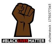 black lives matter protest... | Shutterstock .eps vector #1750377365