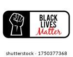 black lives matter protest... | Shutterstock .eps vector #1750377368