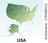 low poly style of usa map ... | Shutterstock .eps vector #1750380212