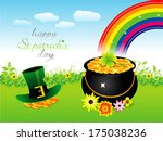 abstract st patrick day... | Shutterstock .eps vector #175038236