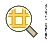 land in magnifier to show land... | Shutterstock .eps vector #1750389932