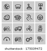 vector black auto icons set | Shutterstock .eps vector #175039472
