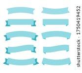 flat ribbons banners flat.... | Shutterstock . vector #1750419452