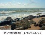 Foaming Sea Water. Horizontal...