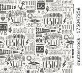 seamless pattern of vintage... | Shutterstock .eps vector #175047356