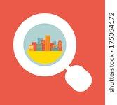 illustration  a big city... | Shutterstock .eps vector #175054172