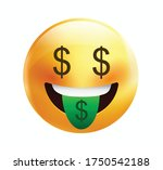 high quality emoticon on white... | Shutterstock .eps vector #1750542188