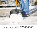 Man With A Snow Shovel On The...