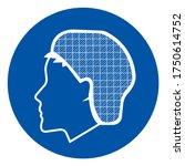 wear hair net symbol sign ...   Shutterstock .eps vector #1750614752