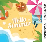 hello summer background with...   Shutterstock .eps vector #1750639535