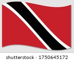 waving flag of trinidad and... | Shutterstock .eps vector #1750645172