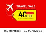 Travel Sale Banner With Yellow...