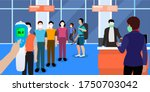 thermal temperature scanning of ...   Shutterstock .eps vector #1750703042