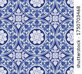 illustration royal indigo blue... | Shutterstock .eps vector #1750703468