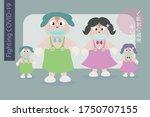japanese family stand for fight ...   Shutterstock .eps vector #1750707155