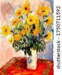 Sunflowers Bouquet In A Vase ...