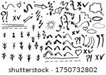 doodle hand drawn collection of ... | Shutterstock .eps vector #1750732802