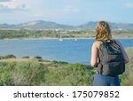 female tourist on vacation in... | Shutterstock . vector #175079852