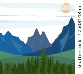 Illustration Of A Mountain In...