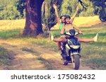 Two Teenage Girls Riding...