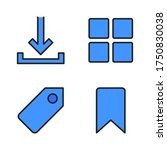 user interface icon set  filled ...