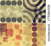 grunge background set   Shutterstock . vector #175084508