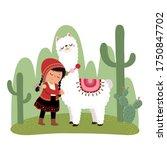 vector illustration of a little ... | Shutterstock .eps vector #1750847702