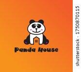 panda home logo _ panda house... | Shutterstock .eps vector #1750870115