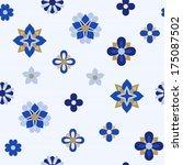 floral texture  blue   Shutterstock .eps vector #175087502