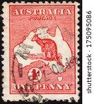 australia   ca.  1913  postage... | Shutterstock . vector #175095086
