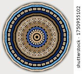 round embroidery tribal mandala ... | Shutterstock .eps vector #1750955102