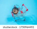 Shopping Cart With Silver Color ...