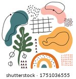 creative hand drawn abstract... | Shutterstock .eps vector #1751036555