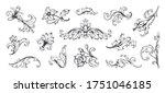 baroque ornament. vintage... | Shutterstock .eps vector #1751046185