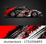 sport car wrap design and... | Shutterstock .eps vector #1751056895