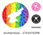 vector mosaic lgbt map of north ... | Shutterstock .eps vector #1751074298